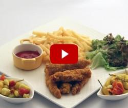 اصابع الدجاج المقرمشة - مطبخ منال العالم
