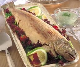 سمك الترويت المشوي
