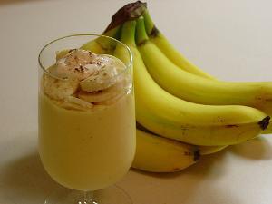 عصير الموز و الزبيب
