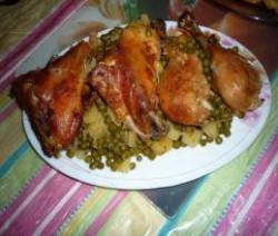 دجاج بالبازلاء