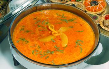 حساء الجزر والزنجبيل