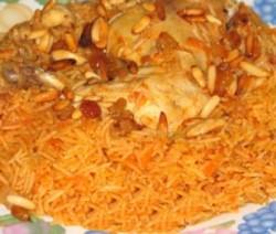 الأرز البخاري مع الدجاج