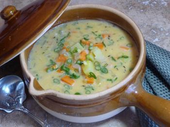 حساء البطاطا الحلوة