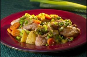 الدجاج بالخضراوات